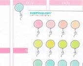 30 cute kawaii balloon planner stickers, hand drawn, birthday, celebration, scrapbook, doodles, school, agenda, reminder, appointment, BLN1