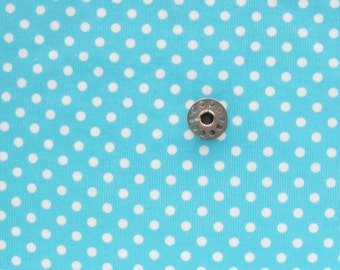Two Plus Yards Turquoise Corduroy with Polka Dots