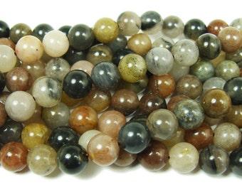 Chinese Tourmaline Round Gemstone Beads