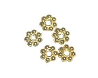 Gold Plated Brass Daisy Beads