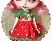 On Dasher! / One-of-a-Kind Doll Dress for Blythe