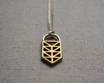 Truss pendant on Sterling Silver chain
