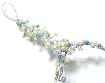Blue Turquoise Beach Wedding Barefoot Sandals, Blue Turquoise Weddings, Bridesmaid barefoot sandals, foot jewelry, Turquoise wedding color