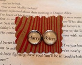 Harry Potter Earrings - Gift For Her / Literary Jewelry / Harry Potter Jewelry / Book Earrings / Teen Gift