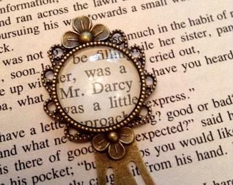 Mr Darcy Bookmark / Jane Austen Gift / Pride and Prejudice Book Mark / Bookmark / Book Lover Gift / Bookish Gift / Reader Gift