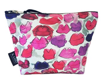 Messy Lips Cosmetic Bag