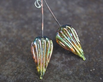 Fairy Ripple - Handmade Lampwork Glass HeadPins - SRA Elasia MTO Head pins