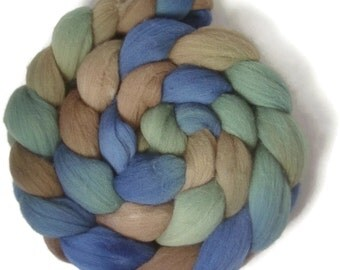 Handpainted Targhee Wool Roving - 4 oz. PUGET SOUND- Spinning Fiber