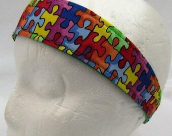 Girls Headbands - Cotton Headbands - Womens Headbands - Cotton Headband for Women - Reversible Cotton Headbands - Autistic