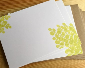 Creeping Jenny Vine - Fern Stationery - Garden Note Cards - Botanical Collection - Hand Printed Stationery - Set of 6