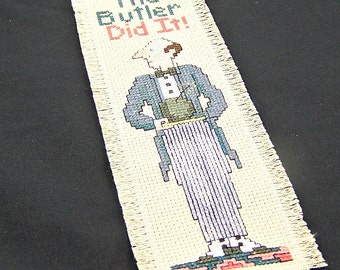 BUTLER DID IT Mystery Bookmark