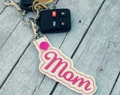 Mom keyfob - keychain for mom - Mother's Day gift - best gifts for moms - gift ideas - gifts under 10 - bulk orders - party favors