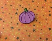 Purple pumpkin enamel pin