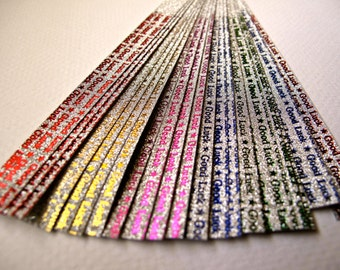 Glittery Lucky Star Strips