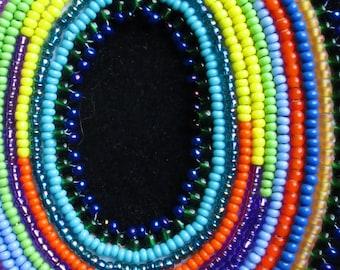 Ellipse - Bead Embroidered Pendant