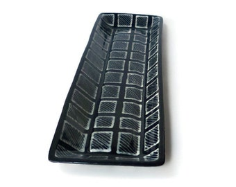 glittery black and white doodle design tray coin tray. Black Bedroom Furniture Sets. Home Design Ideas