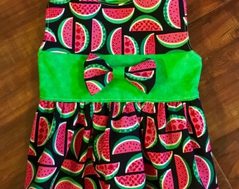 Watermelon Dog Dress XXS - Medium