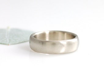 Simplicity Wedding Ring - Palladium/Silver Alloy Wedding Band - 6mm - made to order wedding ring in recycled metal