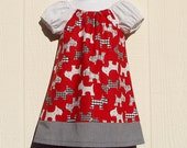 Scottish Terrier Toddler Peasant Dress Size 18 Months