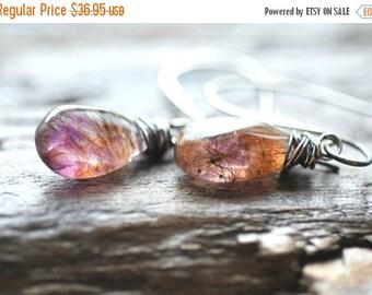 ON SALE Moss Amethyst Earrings Sterling Silver Purple Amethyst Earrings Amethyst Jewelry Purple Gold Earrings Purple Earrings Gift for Her