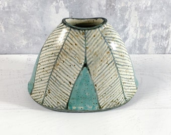 Modern Pillow Vase in Herringbone