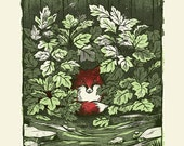 Oak Hydrangea - Screenprinted Art Print