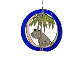 Eeyore Stained Glass Suncatcher