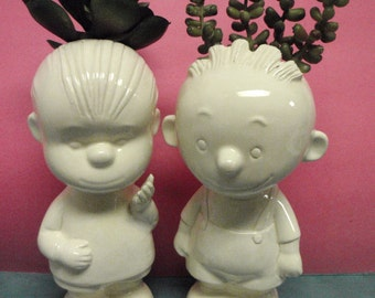 Louie and Charlie Little boy vases