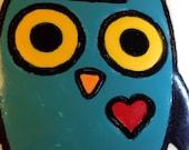 Owl Original Art Coaster