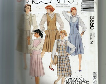 McCall's  Misses'  Jumper Pattern 3850