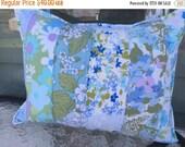 35% OFF CRAZY SALE- Floral Throw Pillow-Cushion-Eco Friendly-Vintage Bed Linen Garden