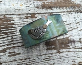 Stamped Leather Cuff-Seek Beauty-Word Cuff-