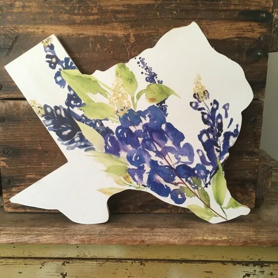 Texas Home Decor. Texas. Texas Home Sign. Texas Bluebonnet.