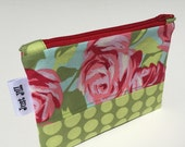 Zipper Pouch-Zippered Bag-Phone Cord Charger Pouch-Purse Organizer-Cotton Zipper Pouch-Travel Bag-Makeup Bag-Personal Items Pouch Bag
