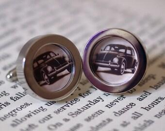 Vintage Beetle Advert cufflinks (45)