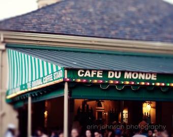 New Orleans Photograph French Quarter Fine Art New Orleans Art Green Decor  Cafe Decor Kitchen Decor