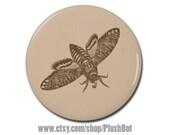 "Deaths Head Hawk Moth 1.25"" Pinback Pin Button Badge or Magnet"