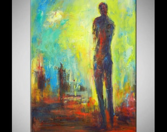 Modern Abstract Figure Art Painting 40x28  by BenWill