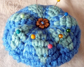 Little Blue Crochet Pin Cushion