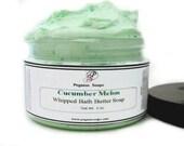 Cucumber Melon Whipped Bath Butter Soap 4 oz