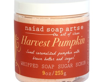Harvest Pumpkin Whipped Soap Sugar Scrub - holiday limited edition