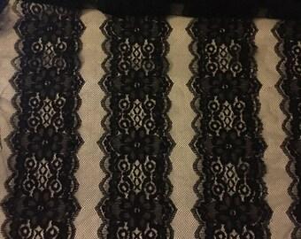 Lace Trim Pattern Fabric