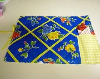 Colorful Oil Cloth Quilted Placemat #6