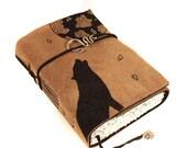 Full Moon Journal, Leather Book, Handmade Journal
