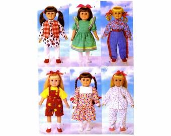 18-Inch Doll Clothing Wardrobe Butterick 5295 Sewing Pattern UNCUT
