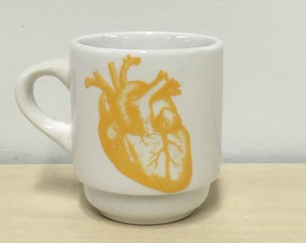 ONE Anatomical Heart Espresso cup in Goldenrod Yellow