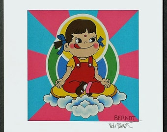 Peko Chan Achieves Enlightenment signed Giclee print