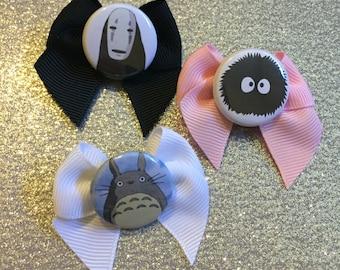 Totoro, Soot Sprites & No-Face Hair Bows