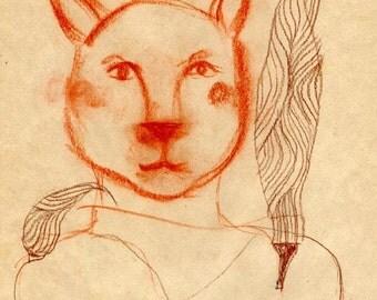 Original drawing Cat Wings