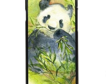 "Phone Case ""Munchies"" - Panda, Asian Animal, Bear, Rare Animal, Protected Wildlife, Watercolor Painting By Olga Cuttell"
